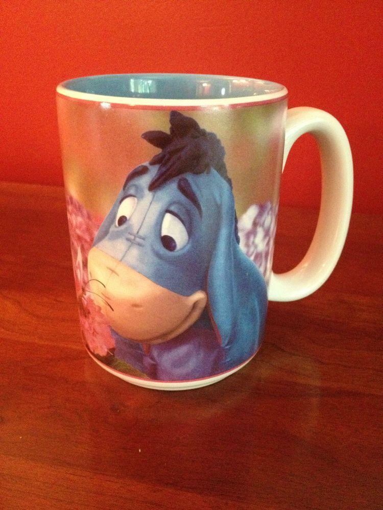 Disney Store Eeyore and Butterfly Floral Coffee Tea Mug Cup