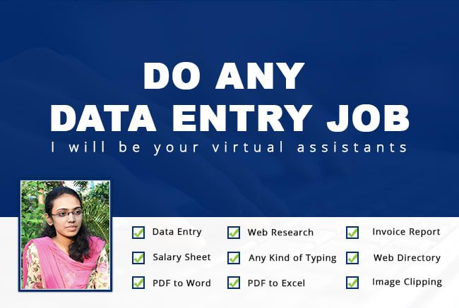 be your virtual assistants and do data entry job - Real Virtual Assistant Jobs