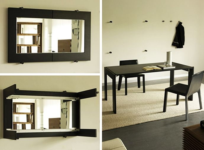 Exceptionnel Folding Dining Table Turns Into A Mirror, By Porada