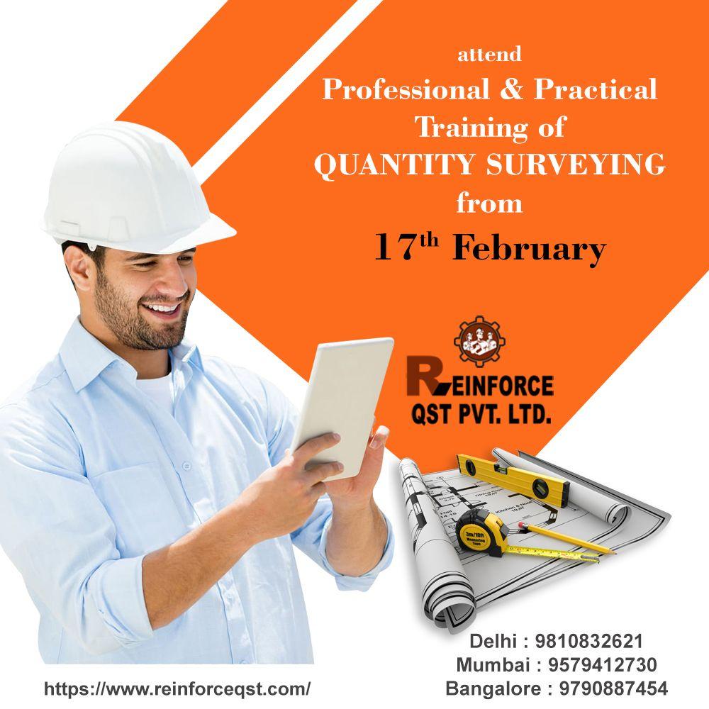 For Best Quantity Surveyor Training In Delhi Contact Reinforce Qst