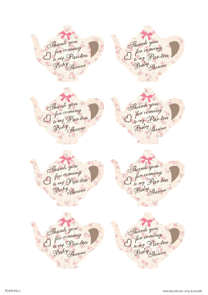Tea garden party baby shower my practical baby shower guide tea free printable tea party thank you cards click for more tea party baby shower ideas and more free printables filmwisefo