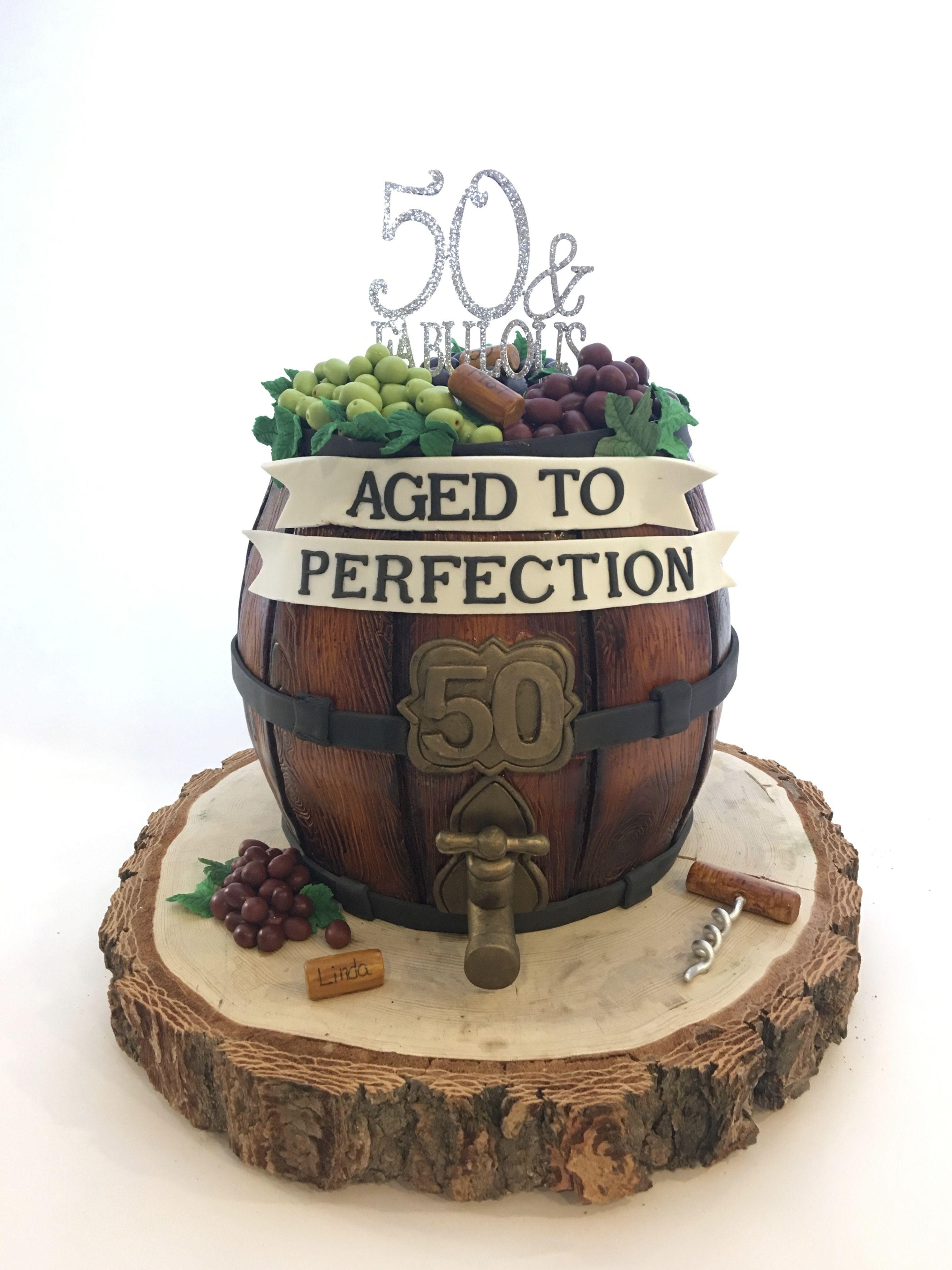 Wine Barrel 50th Birthday Cake 50th Birthday Cakes For