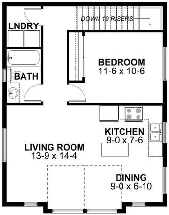 3 Car Garage Apartment Plan Number 99942 with 1 Bed , 1 ...