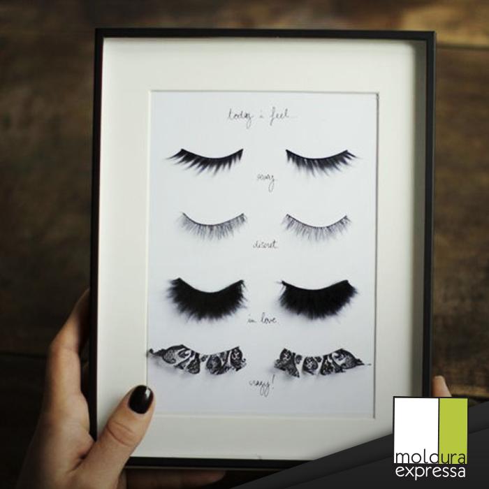 Para Os Amantes De Maquiagem Olha Só Que Inusitado Cílios Postiços Emoldurados