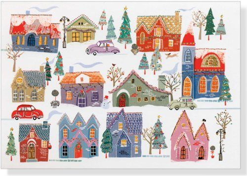 All Around Town Deluxe Boxed Holiday Cards Greeting May your home