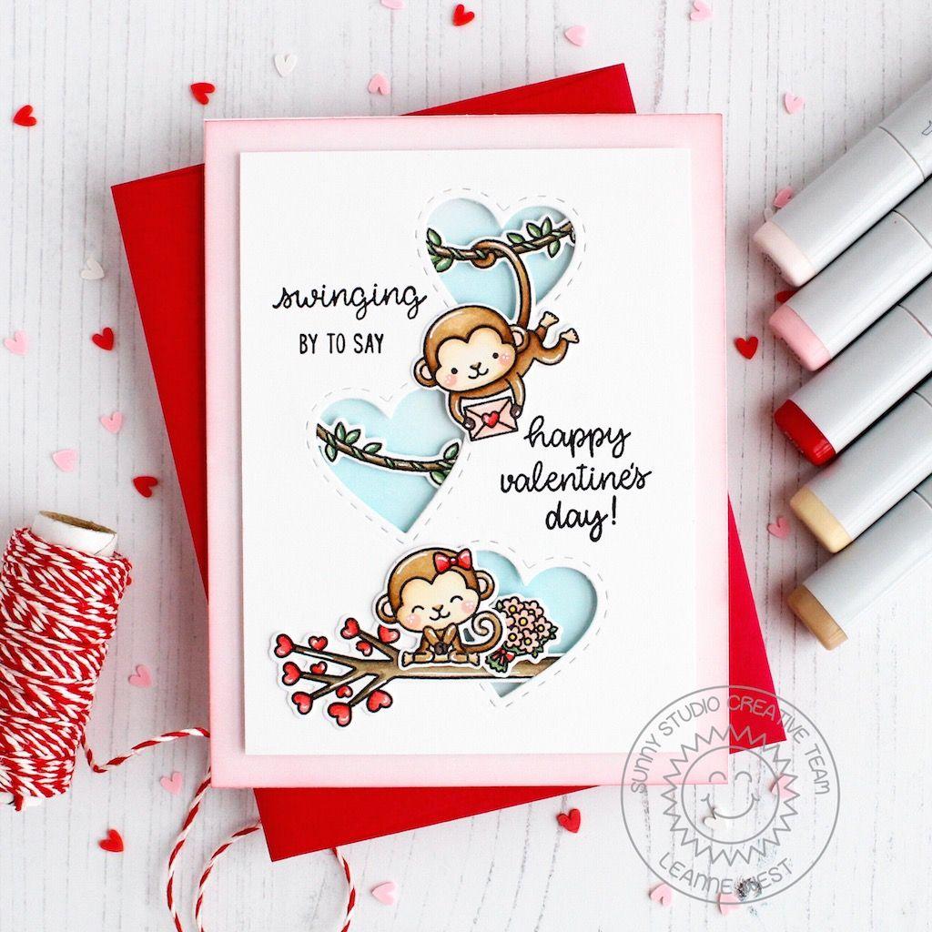 leannelovemonkey  monkey valentine cards