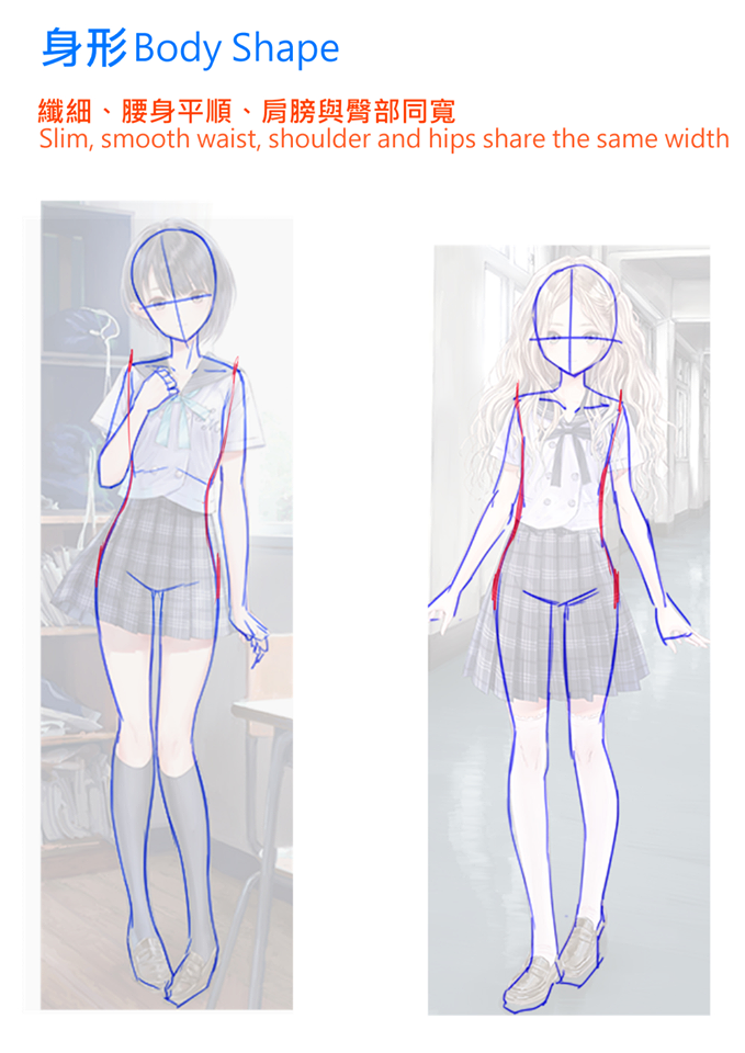 Anime Girl Waists And Shoulder Proportions How To Draw Character