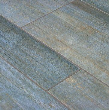Barrique Blue Wood Plank Porcelain Contemporary Floor Tiles