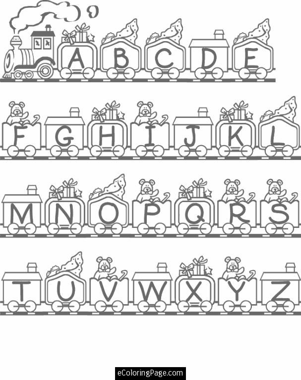 Abc train alphabet coloring pagescoloring