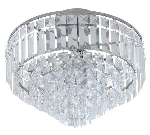 Collection Olivia 3 Light Chrome Ceiling Ing Clear