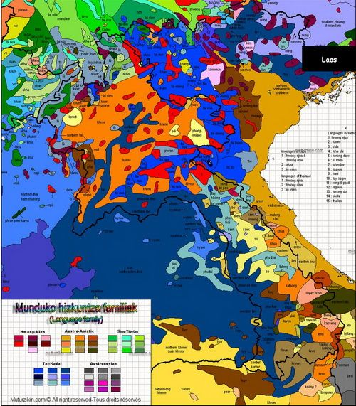 A Linguistic Map Of Southeast Asia This Is A Crunkfest If I Ever - Asia language map