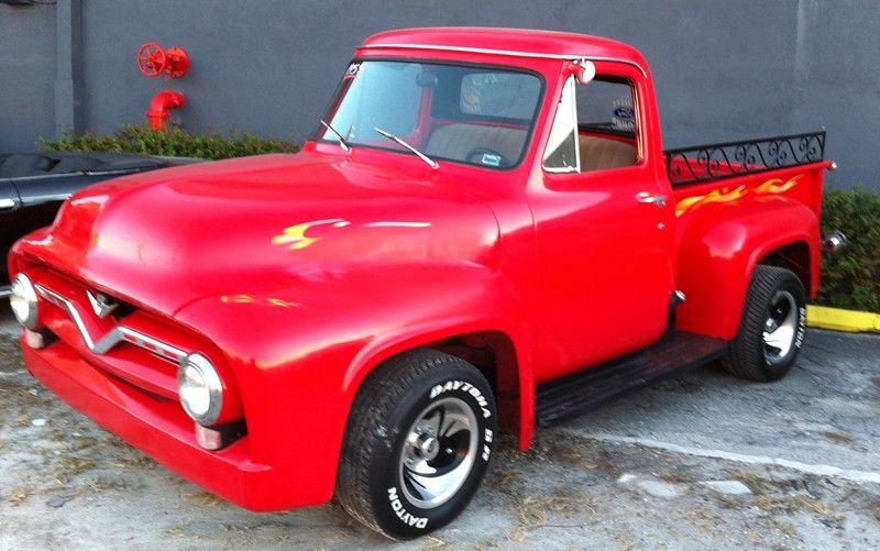 1955 ford red truck photos 1955 Ford Pick Up Truck