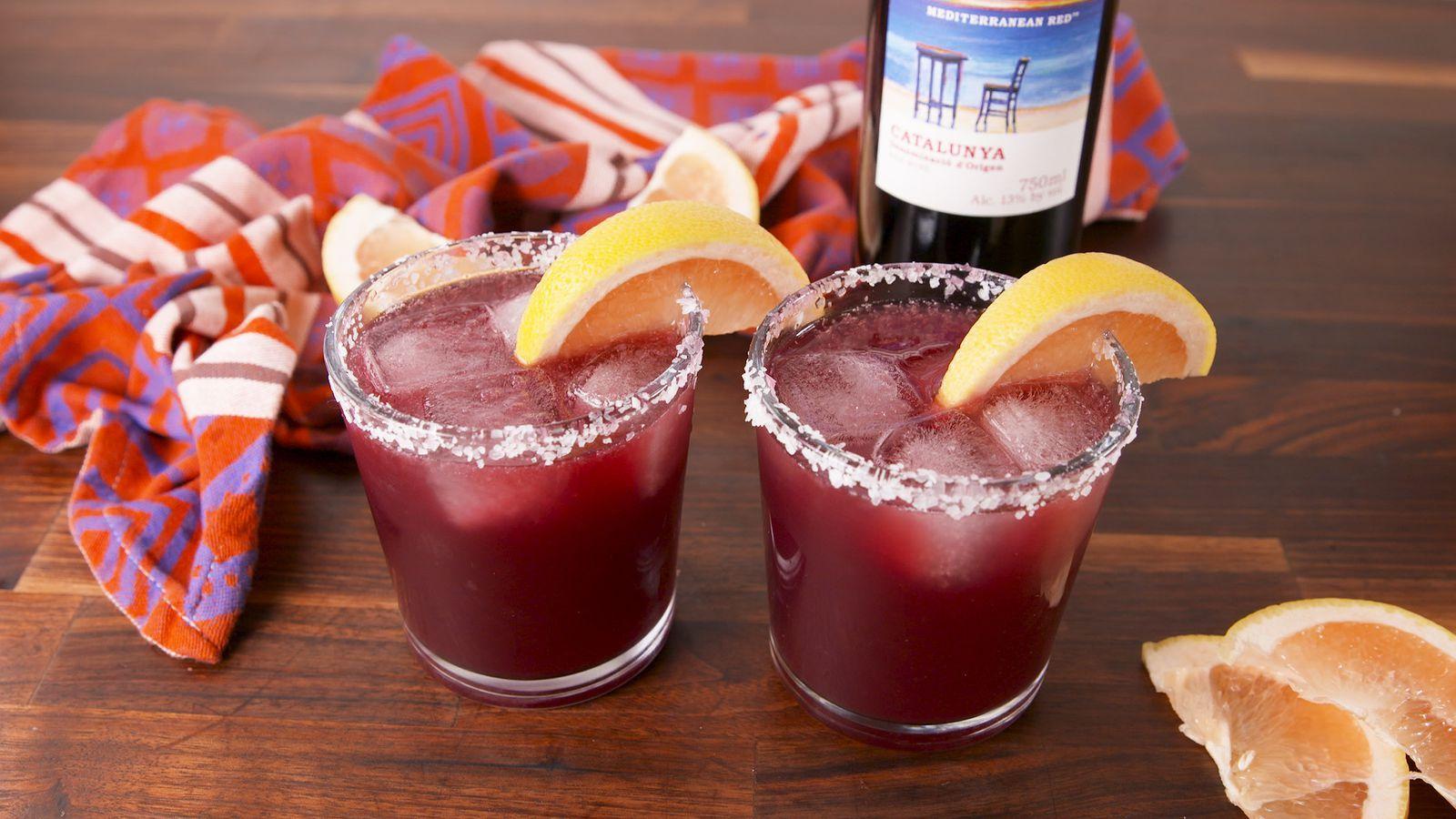 Mediterranean Margaritas Recipe Margarita Recipes Delish Wine Recipes