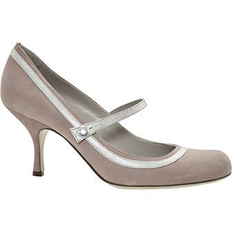 Nude Suede Mary Jane Courts