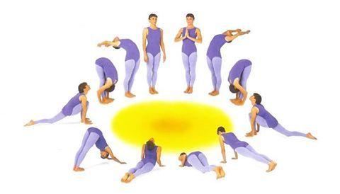 приветствие Солнцу  Позы в йоге для начинающих Позы йоги