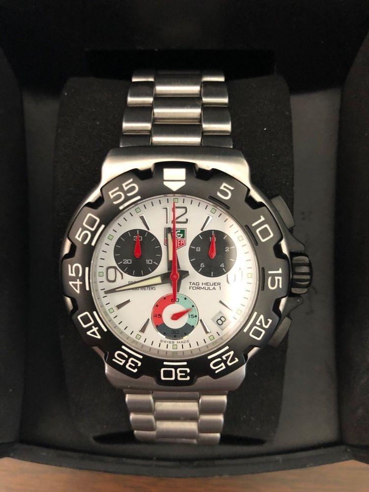 d8b60f6eb8e TAG Heuer Formula 1 Steel Titanium White Dial Quartz Mens Watch  CAC1111.BA0850