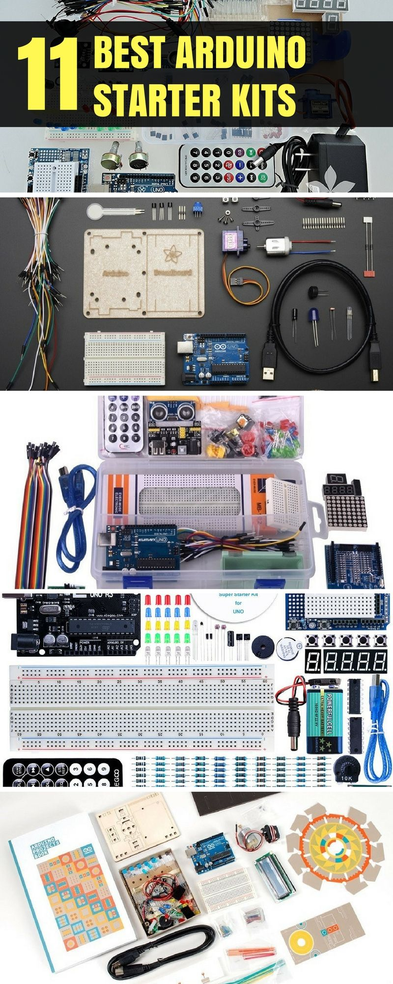 10 best arduino starter kits for beginners [2019 updated] arduinothe first kit in the list is the official arduino starter kit this kit includes several components using which you can make up to 15 projects