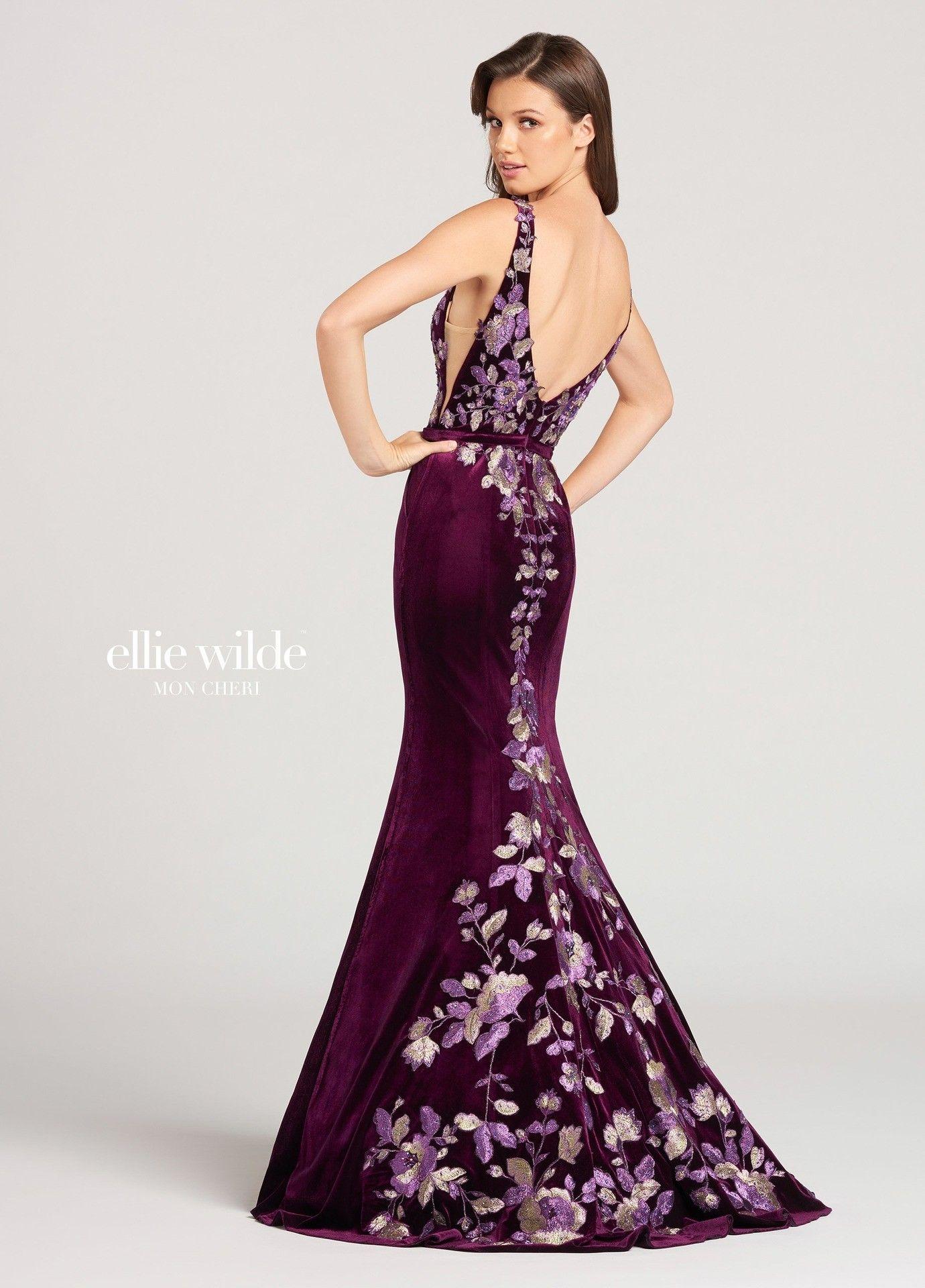 Ellie wilde ew floral velvet plunge gown dresses pinterest
