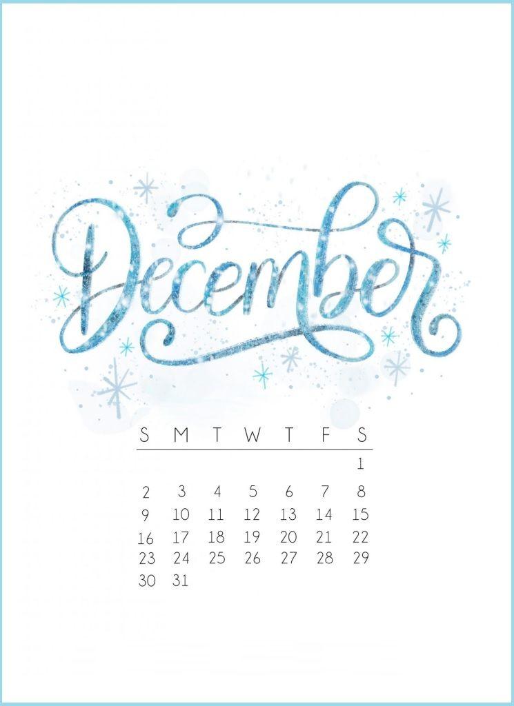 Printable Calendar December 2019 Caligraphy December 2018 Calendar Design | Calendar 2018 in 2019 | January