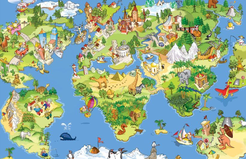 Animal map wallpaper wall mural muralswallpaper wallpaper animal map wallpaper wall mural muralswallpaper gumiabroncs Images