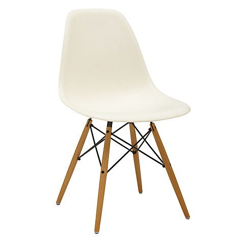 Vitra Eames Dsw Side Chair Light Maple Leg Cream Kitchen Eames Dsw Chair Eames White Dining Chairs
