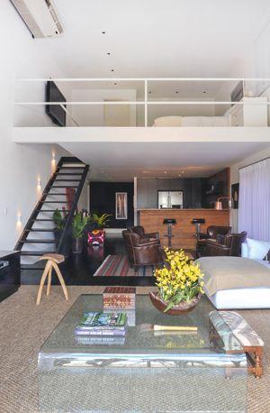 Casas com mezanino: boas ideias de aproveitamento  인테리어 디자인, 침대 및 ...