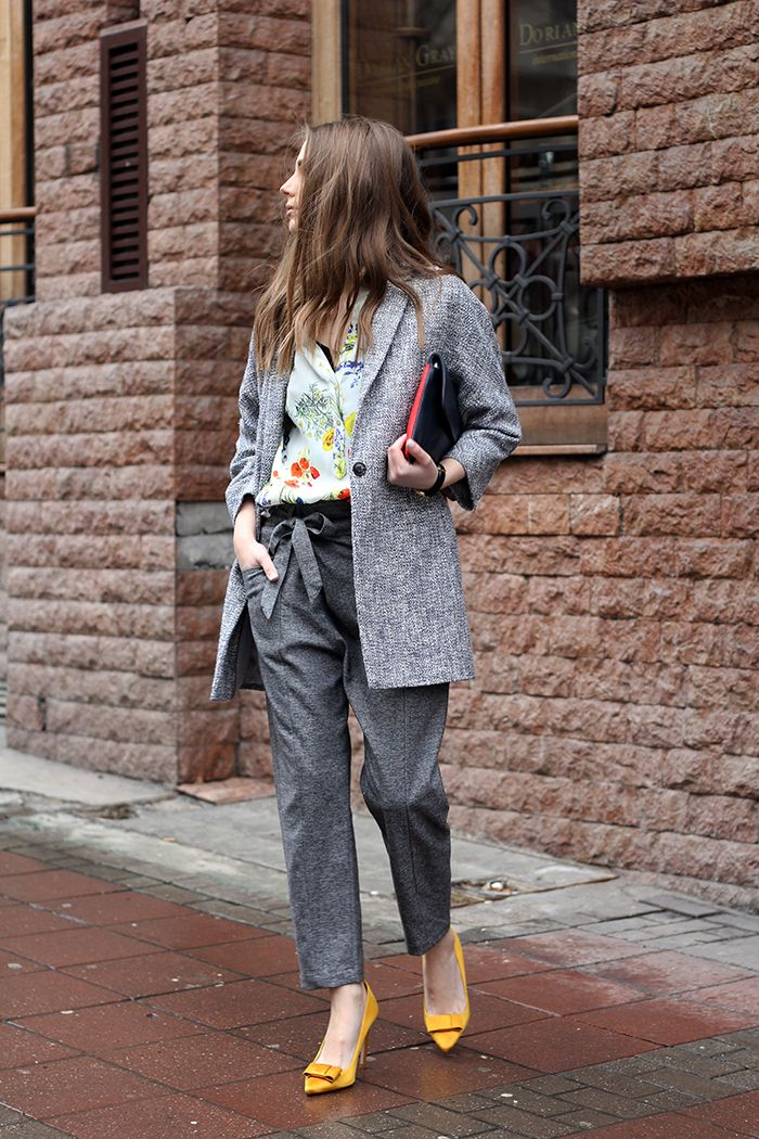 Fashion and style: Two-tone structured weave coat