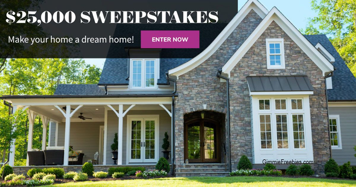 25,000 Dream Home Giveaway GimmieFreebies Dream house