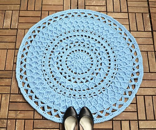"""This pattern uses a combination of lace and aran crochet techniques with open and structured repeats. Due to usage of front post stitches it is aimed to intermediate crocheters. But I believe that advanced (""""adventurous"""") beginners can also handle it."""