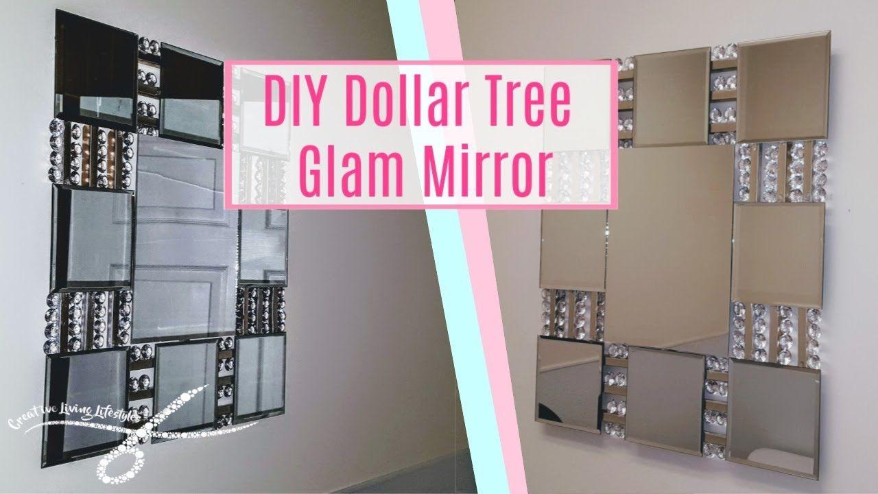 Diy Dollar Tree Large Glam Wall Mirror Diy Wall Decor Glam Room Deco Wall Mirror Diy Diy Mirror Dollar Tree Diy