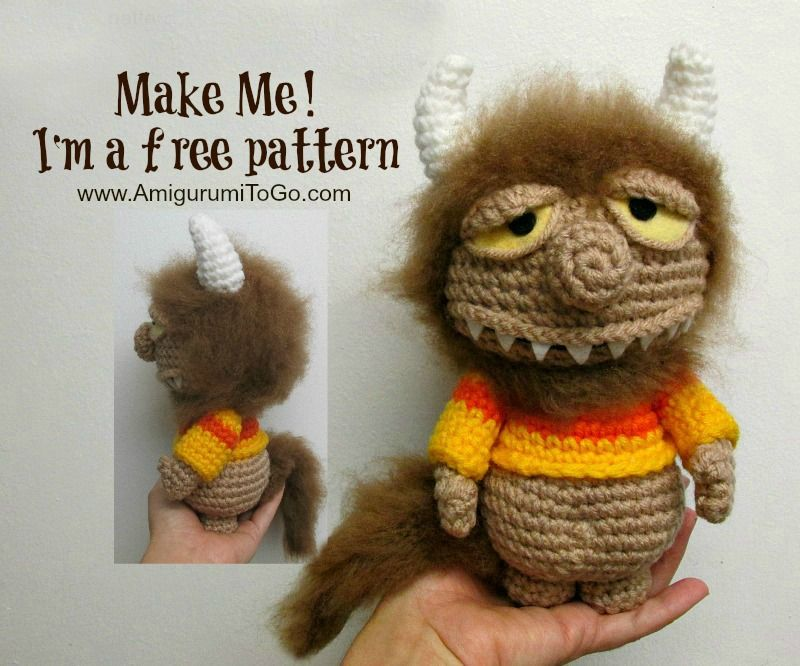 Free Amigurumi Squirrel Crochet Pattern : Video the unnamed monster pattern amigurumi to go! homemade