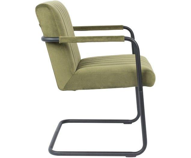 Samt Freischwinger Stuhl Stitched Mit Armlehne Products In