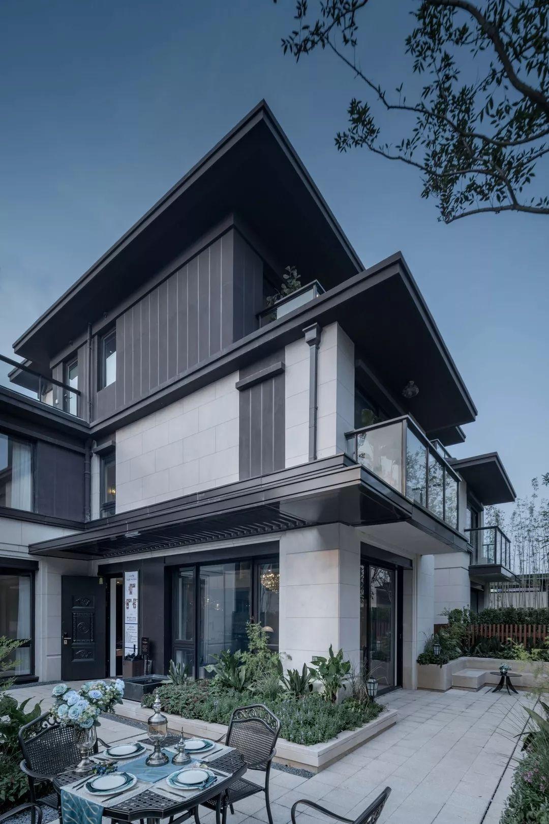 Chinese Villa Facade House Classic House Exterior Contemporary House Design