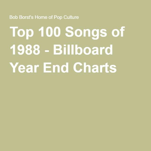 Top 100 Songs Of 1988 Billboard Year End Charts Top 100 Songs