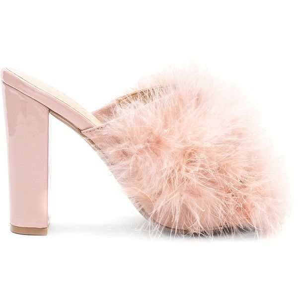 Feather shoes, Mules shoes heels