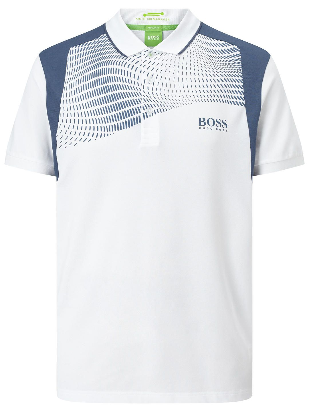 6a71ae2bd BuyBOSS Green Pro Golf Paddy Pro 1 Polo Shirt, White, S Online at johnlewis .com