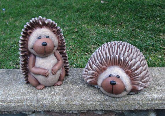 Hedgehog   Yard Art   Garden Art   Lawn Ornament   Ceramic Hedgehog Statue    Hedgehog