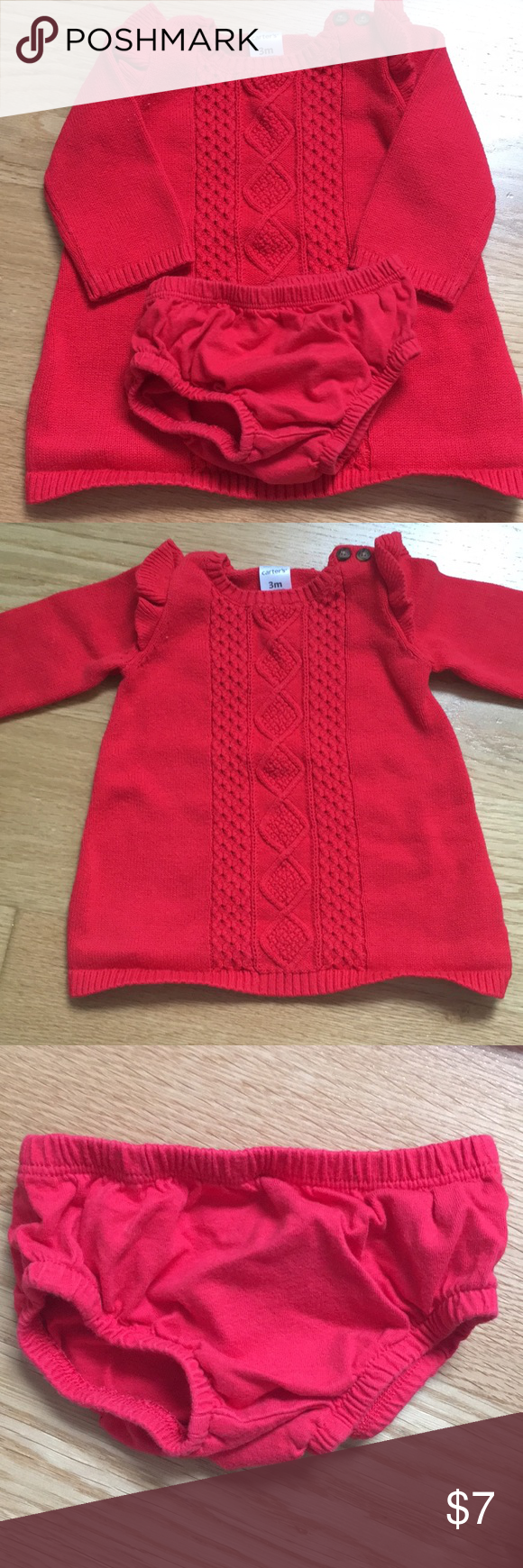 Baby Girl Red Sweater Dress Size 3 Months Red Sweater Dress Red Sweaters Carters Dresses [ 1740 x 580 Pixel ]