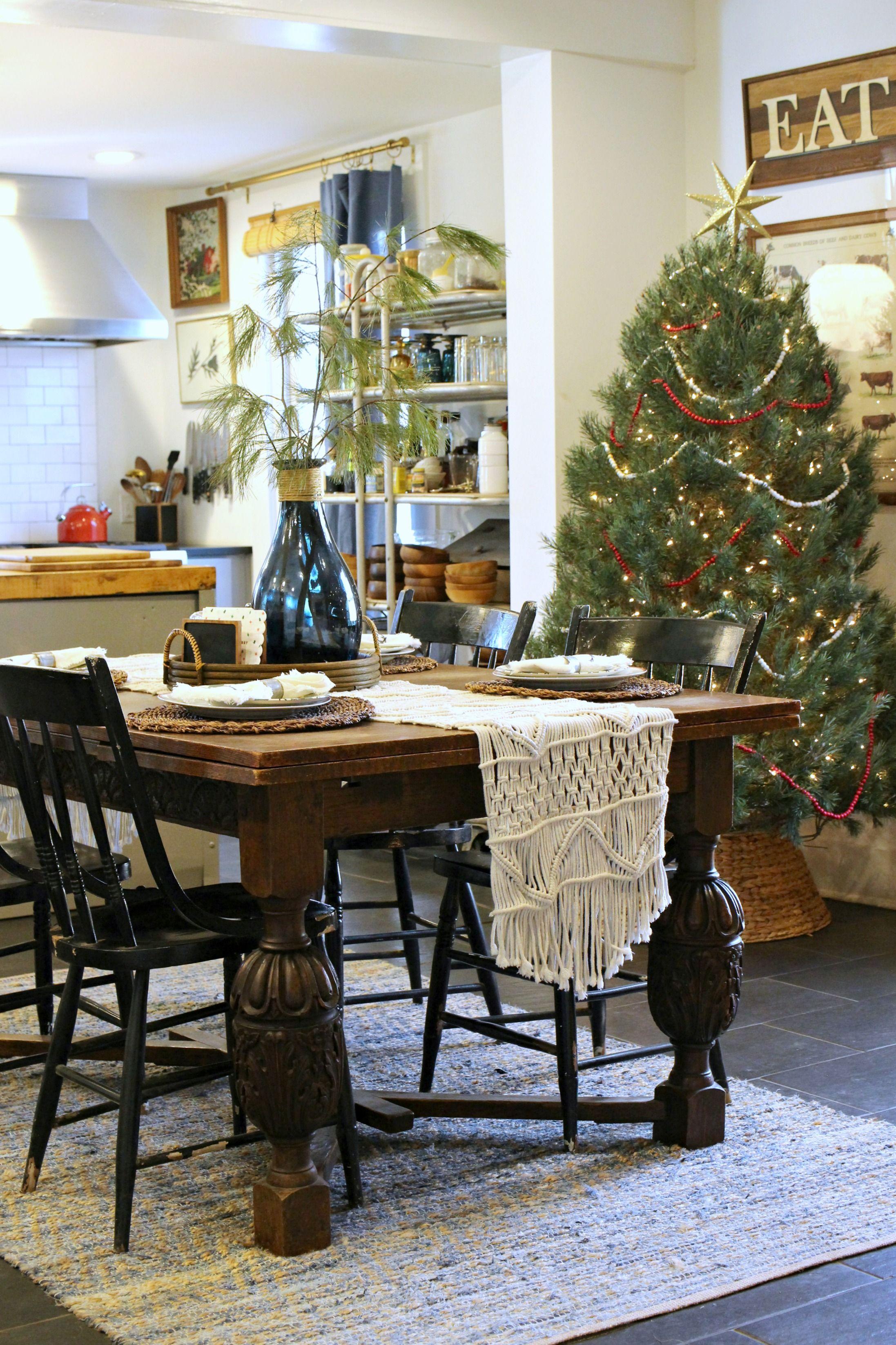 vintage christmas farmhouse kitchen gathered living holiday home tour home holiday home on farmhouse kitchen xmas id=57065