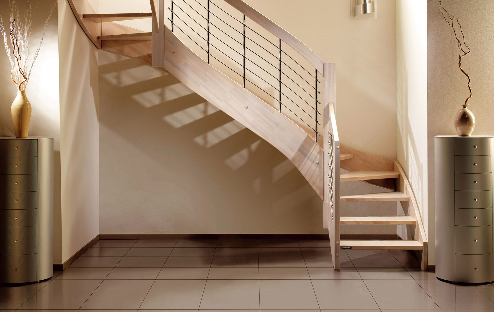 Best Half Turn Staircase Lateral Stringer Wooden Steps 400 x 300