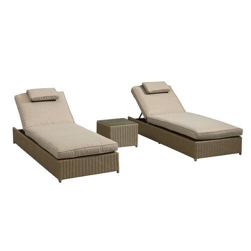 Sol 72 Outdoor Gooding Reclining Sun Lounger Set with ...