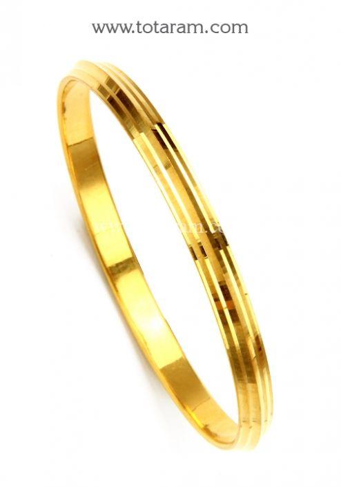 22k gold sikh kada sikh kara mens gold bangle totaram