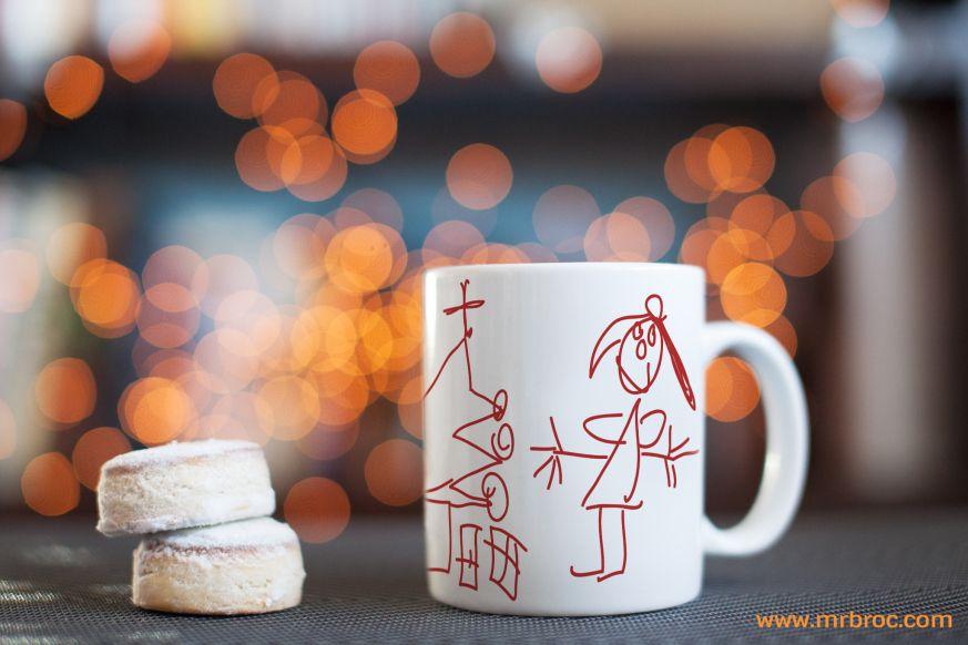 Broc Taza personalizada con los dibujos de los niños. El regalo con más sentimiento para esta Navidad. Encarga la tuya para navidad en www.mrbroc.com