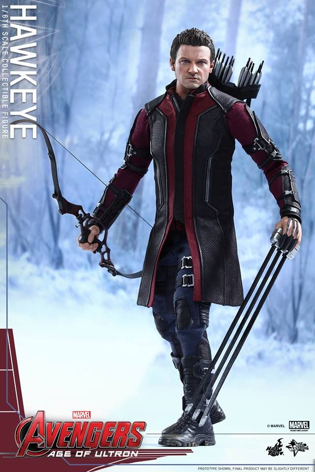 Avengers Age Of Ultron Hawkeye Figure By Hot Toys Com Imagens