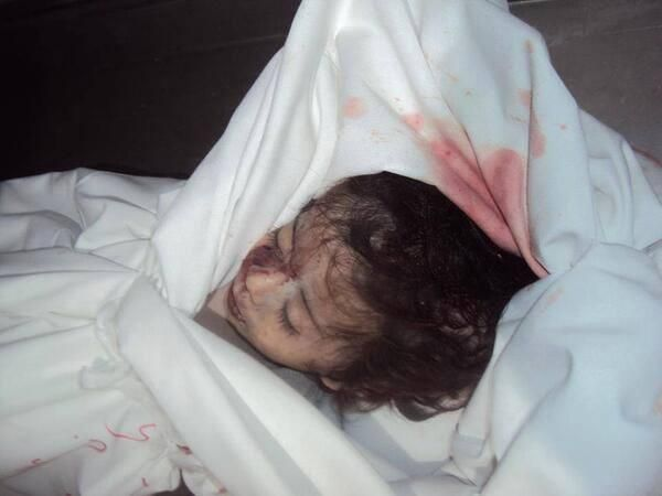Ranin Abd Elghafour, an infant that got killed today by Israeli attack on her family house. #GazaUnderAttack
