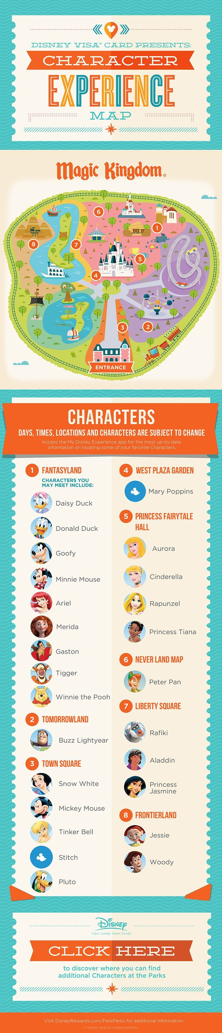Magic Kingdom® Park Character Experience Guide Disney