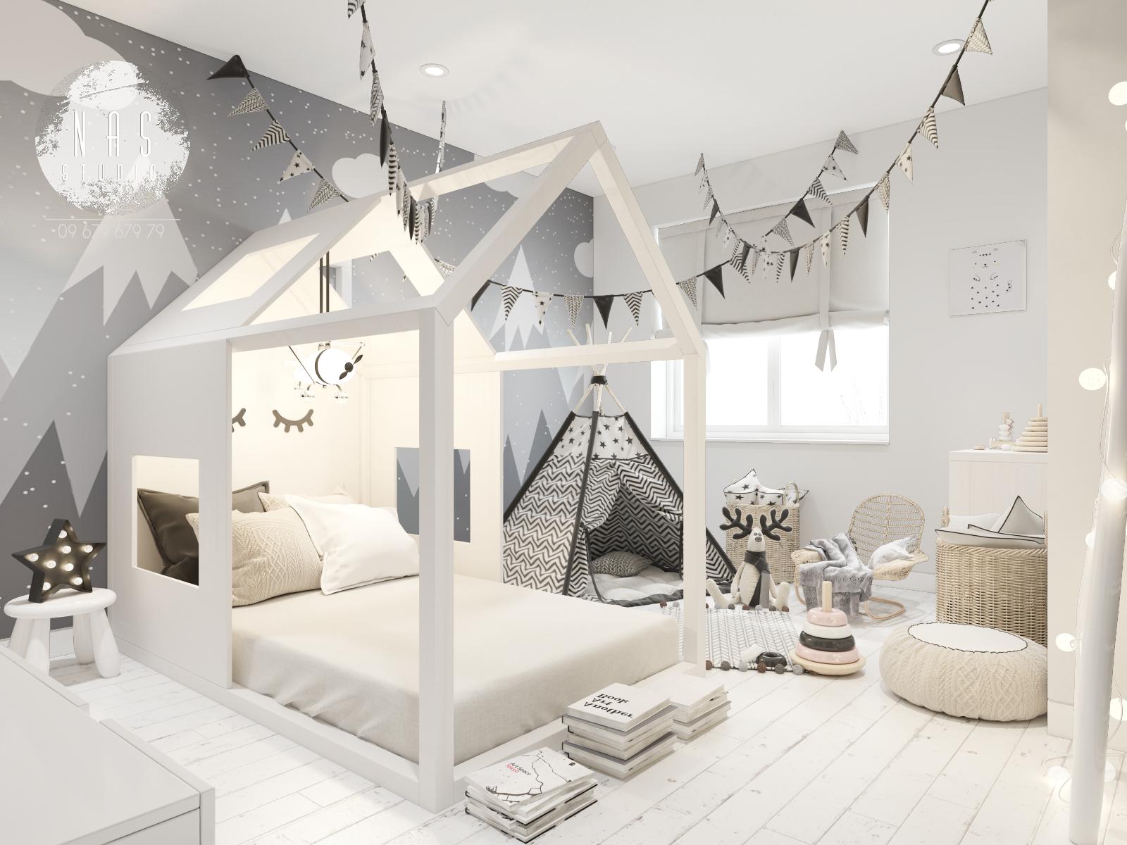 查看此 Behance 项目 Children S Room Scandinavian Style Https Www Behance Net Gallery 51924895 Childrens Ro Cool Kids Rooms Scandinavian Kids Rooms Toddler Rooms
