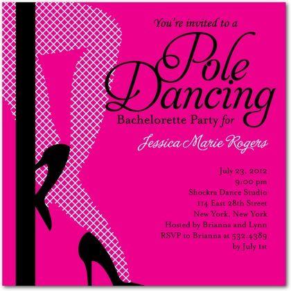 Pole dance party invitation Invitations – Free Dance Party Invitations