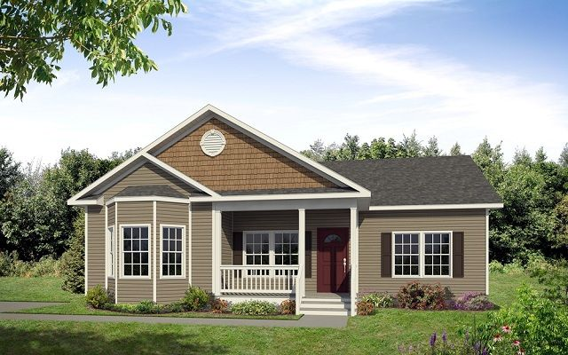 The Halifax Custom Home Standard Front Porch Standard Bay