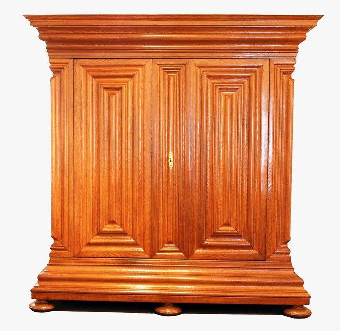 Frankfurter Wellenschrank Nasenschrank Eiche Barock Antiquitaten Haus Heymann Gmbh Antik Furniture Antiques Und Armoire
